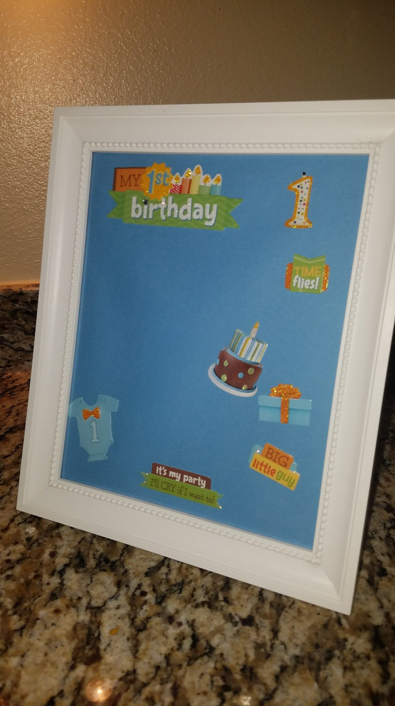 Baby Boy First Birthday Nephew Present Son Picture