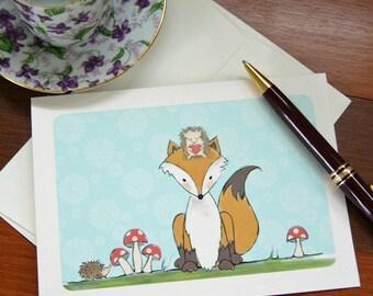 Fox and Hedgehog - Notecards, set of 8
