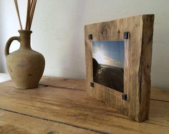 Reclaimed wood frame - Instagram photo frame - rustic photo frame - Wood wall art - photo gift - rustic picture frame - one of a kind -