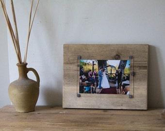 Bespoke Anniversary gift - wedding wood frame - 5 year wedding gift - handmade photoframe - 5th anniversary wood - reclaimed wood frame