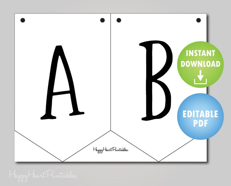 picture about Printable Banner Template named Editable Pennant Banner Practice - Printable Banner Template