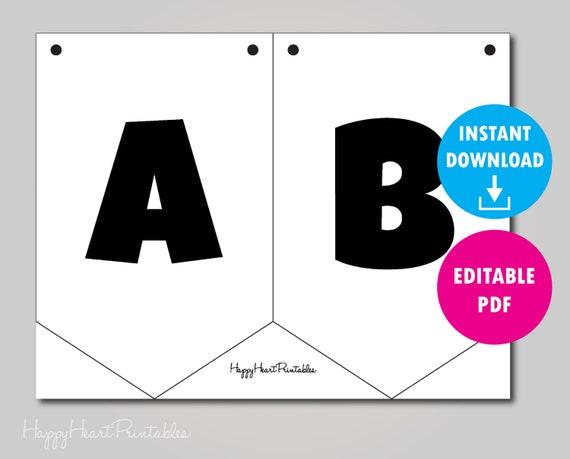 photo regarding Printable Pennant Banner Template named Editable Pennant Banner Template - Printable Banner Template