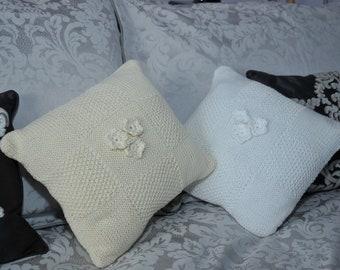 100% Pima Cotton Hand Knit Cushion