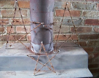 """14"""" Barbed wire star"""