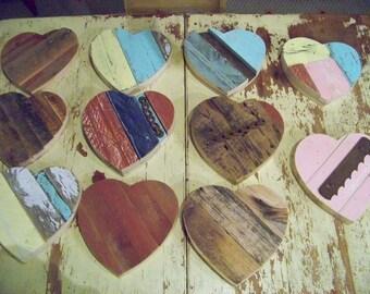 """8"""" Barn wood Hearts"""