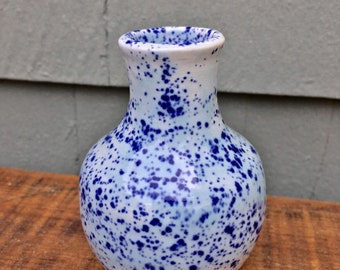 Mini Blue Speckled Vase