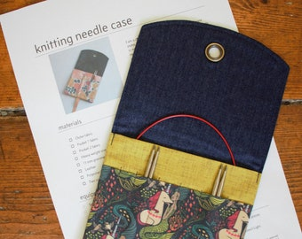 Sewing Pattern: Knitting Needle case for interchangeable or DPN needles. PDF Download
