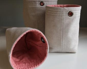 Sewing Pattern: Easy Nesting Buckets. Easy Drawstring Bag. 2 Pattern Bundle. PDF Download