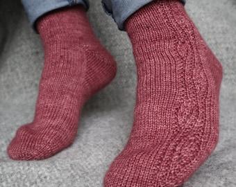 3 Knitting Patterns: Socks From The Allotment. PDF Download. Egremont Russet and Sungold