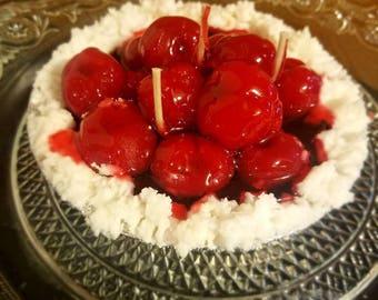 """5"""" Cherry Cream pie"""