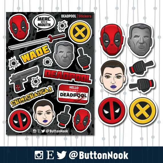 xmen deadpool zombie decal sticker decal marvel comics games