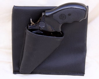 Revolver Purse Holster, Black concealed carry, LCR Bodyguard 340 CCW pistol S&W Ruger