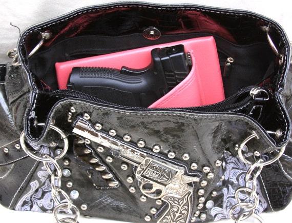 "3"" Large Auto Purse holster Pink, S&w CS9, XD sub-c 3"" CCW pistol"