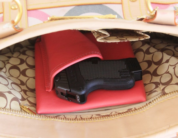 Mini auto, Pink Concealed carry purse holster 380 LCP p380 P3AT gun CCW pistol