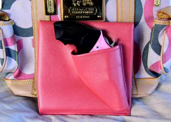 Revolver Purse Holster,Pink, concealed carry, LCR Bodyguard 340 CCW pistol Ruger Colt S&W