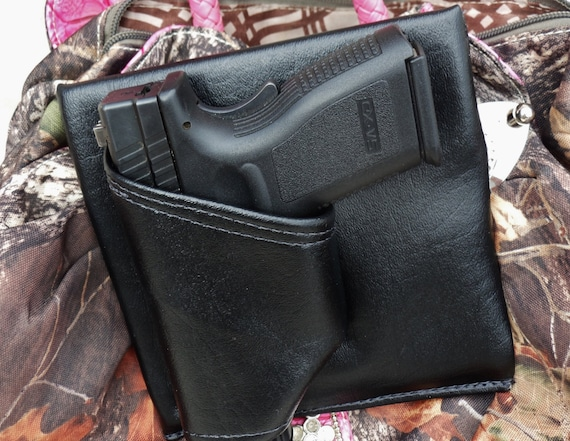 "3"" Large Auto Black Purse Holster, S&W MP9c, XD sub-c 3"" CCW pistol"
