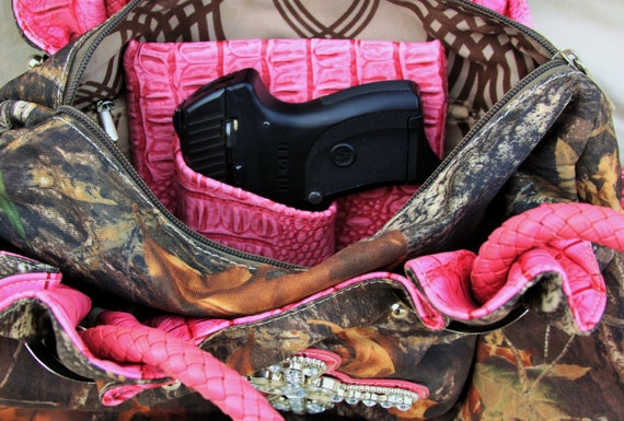 Small Auto Laser, Purse Holster Pink Gator Print,  Concealed Carry LC9 Solo Nano CCW pistol Sig P938 Bersa Ruger