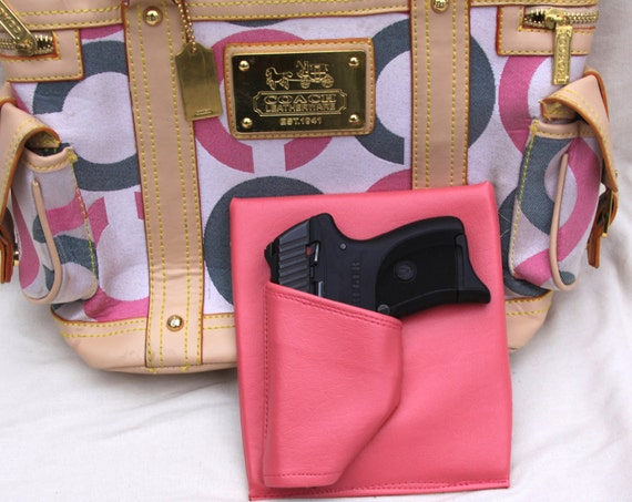 Small Auto Purse Holster, Pink, Concealed Carry LC9 Solo Nano Kel Tec Kahr Bersa