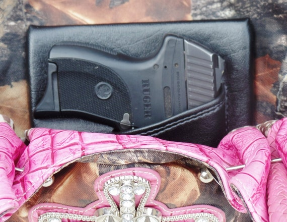 Small Auto Purse Holster, Black Concealed Carry LC9 Solo Nano CCW pistol