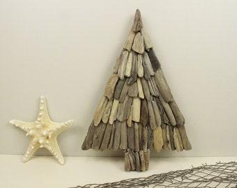 Driftwood Christmas Decoration For Mantle Wall Or Bookshelf Tree Evergreen Coastal