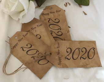 Set of 10 Rustic tags 2019 Tea Stained Tags Primitive tags Graduation cards Rustic Wedding,Vintage wedding tags Antique tags