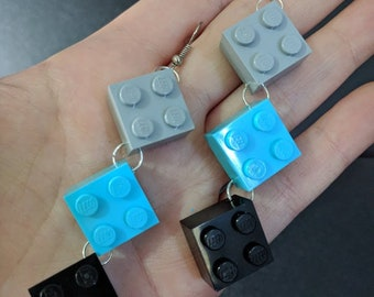 2x2 LEGO earrings
