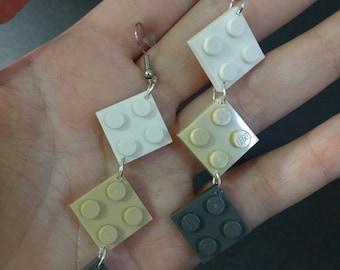2x2 LEGO plate earrings