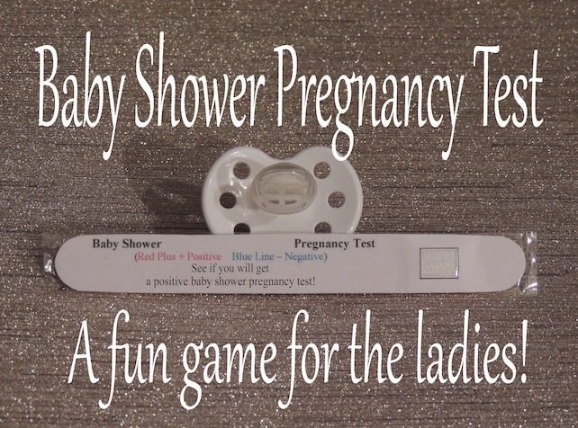 Baby Shower Games Pregnancy Test Boy Baby Shower Girl Etsy