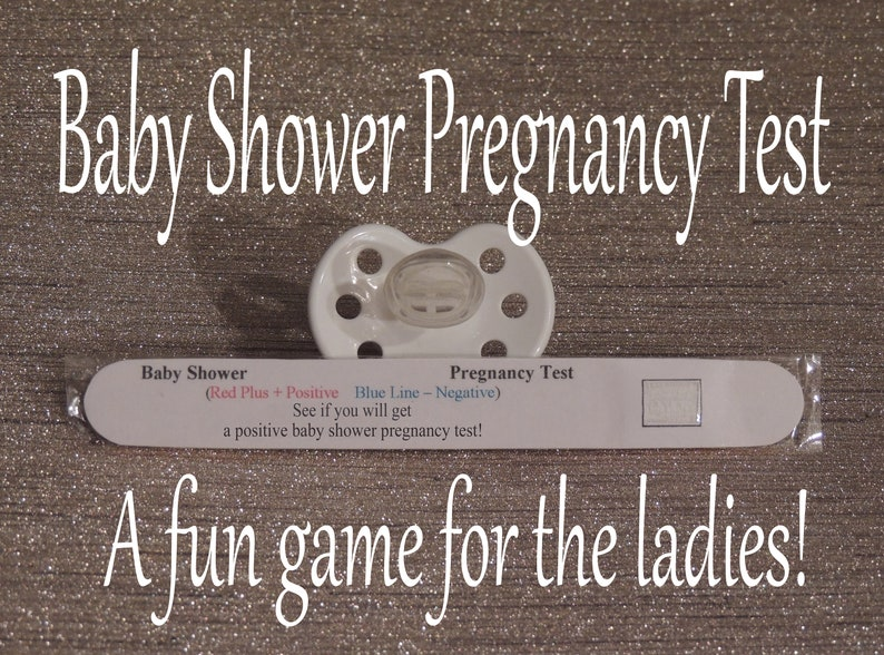 Baby Shower Games Pregnancy Test Boy Baby Shower Girl Etsy