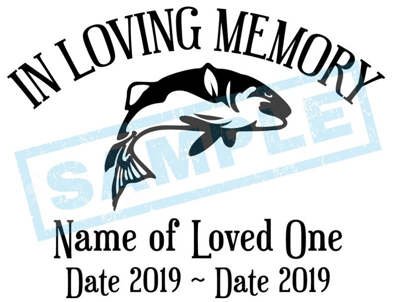 Personalized In Loving Memory Decal  Trout Fish image 0