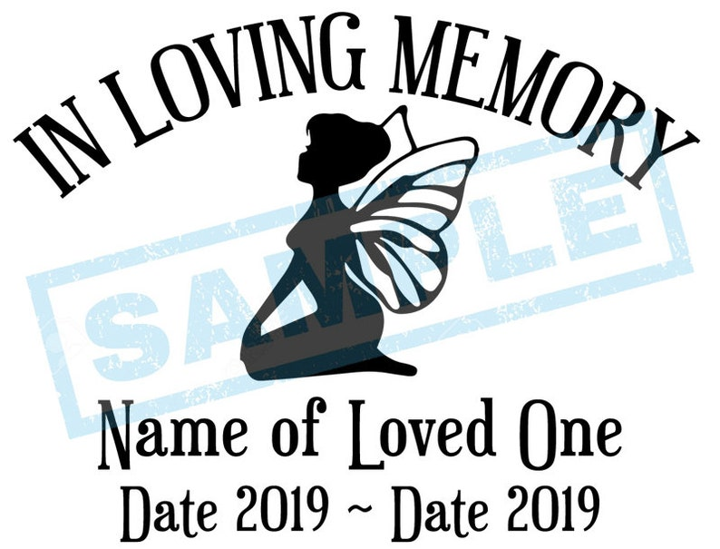 Personalized In Loving Memory Decal  Fairy Faerie image 0