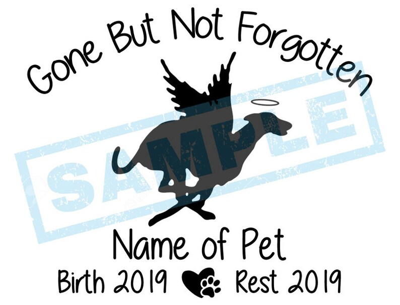 Personalized In Loving Memory Decal  Greyhound Angel Dog image 0