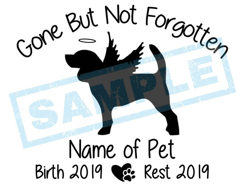 Personalized In Loving Memory Decal  Beagle Angel Dog image 0