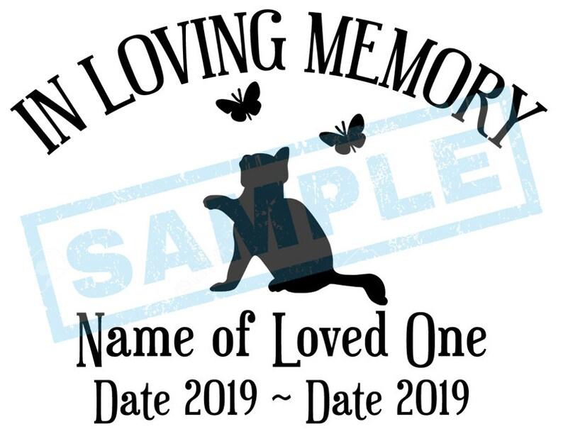 Personalized In Loving Memory Decal  Kitten Butterflies image 0