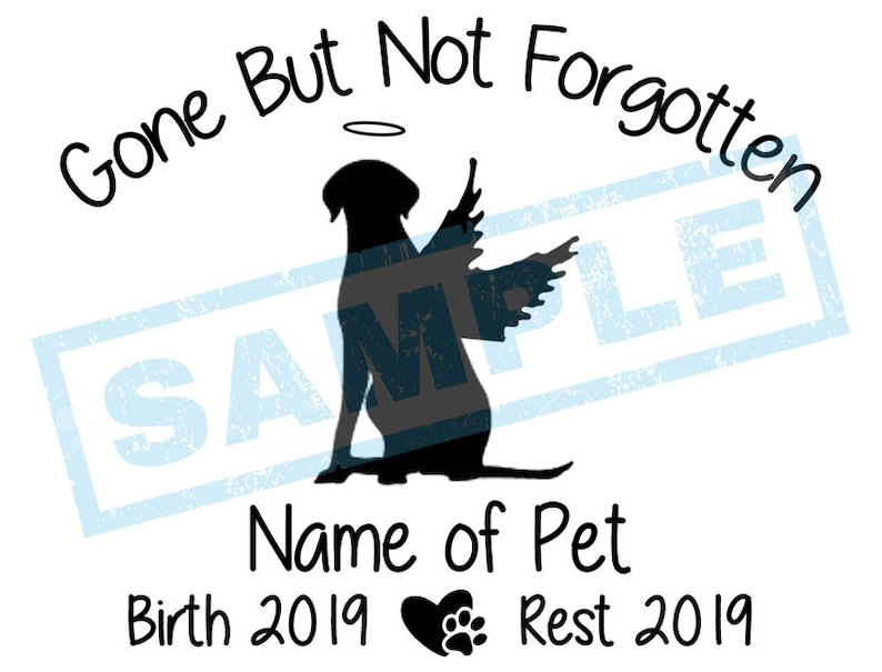 Personalized In Loving Memory Decal  Dalmatian Angel Dog image 0