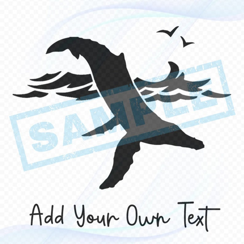 Personalized Nautical Decal  Humpback Whale Diving image 0