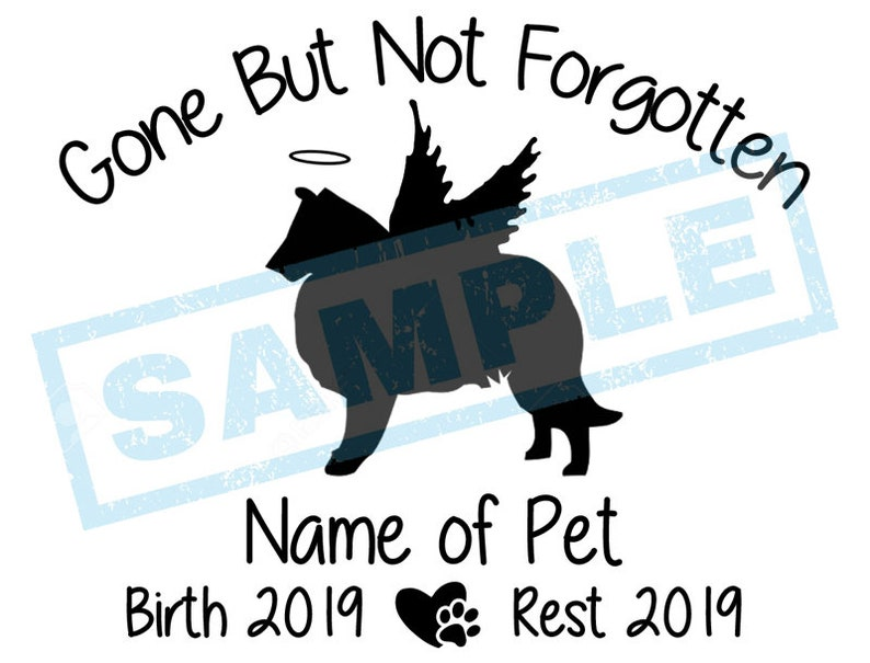 Personalized In Loving Memory Decal  Collie Angel Dog image 0
