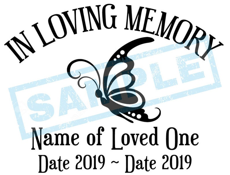 Personalized In Loving Memory Decal  Butterfly image 0