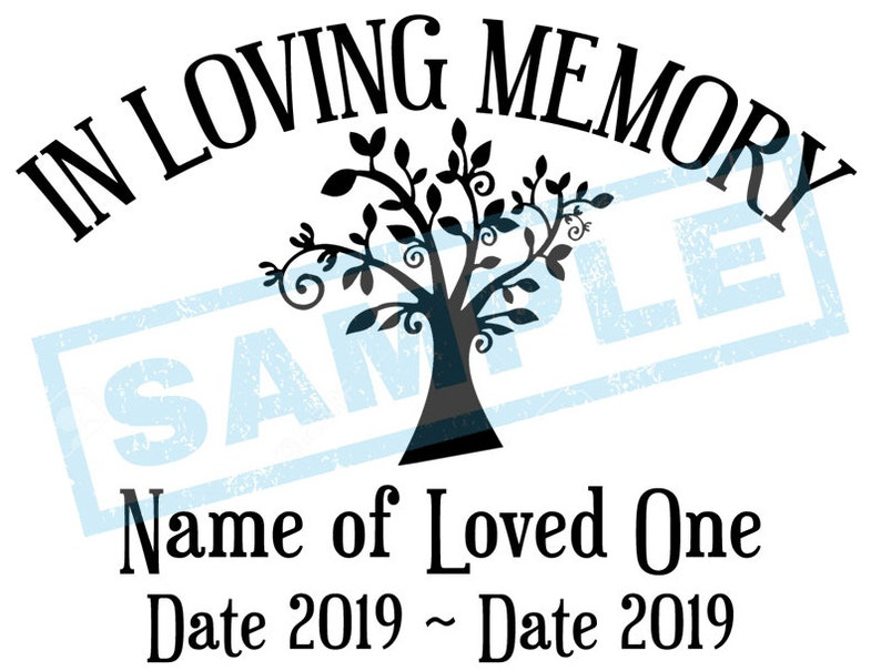 Personalized In Loving Memory Decal  Tree image 0