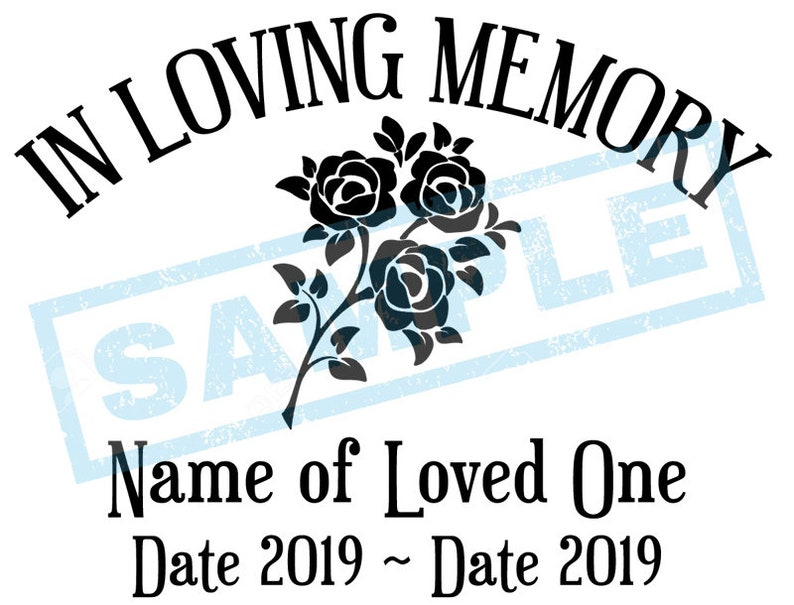 Personalized In Loving Memory Decal  Roses image 0