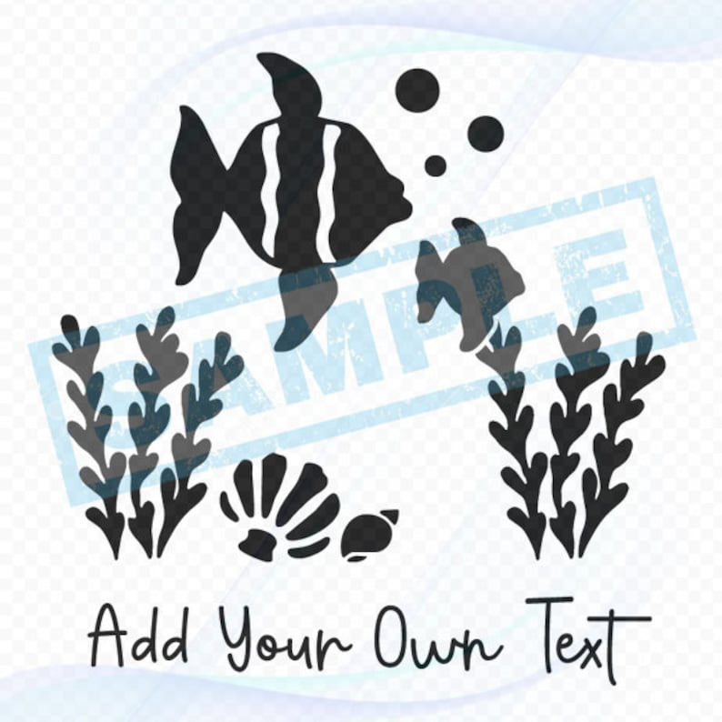 Personalized Nautical Decal  Two Fish Seashells image 0