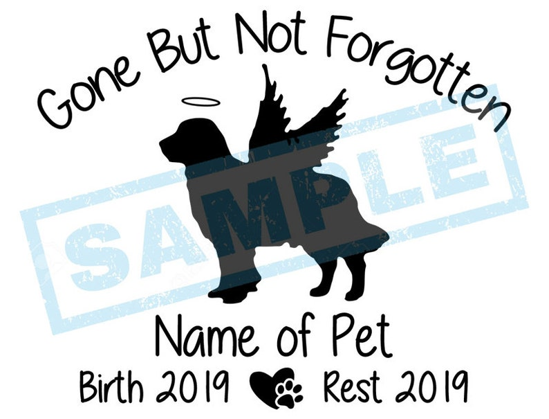 Personalized In Loving Memory Decal  Golden Retriever Angel image 0