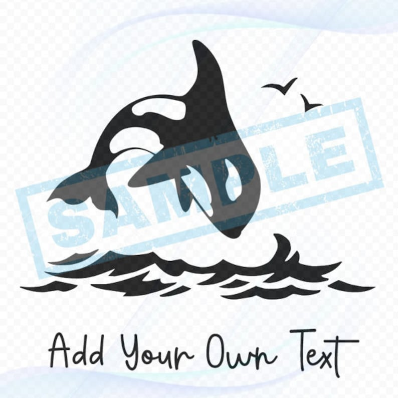Personalized Nautical Decal  Killer Whale Orca image 0