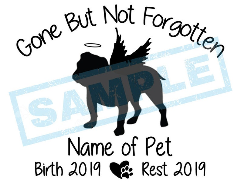 Personalized In Loving Memory Decal  English Bulldog Angel image 0