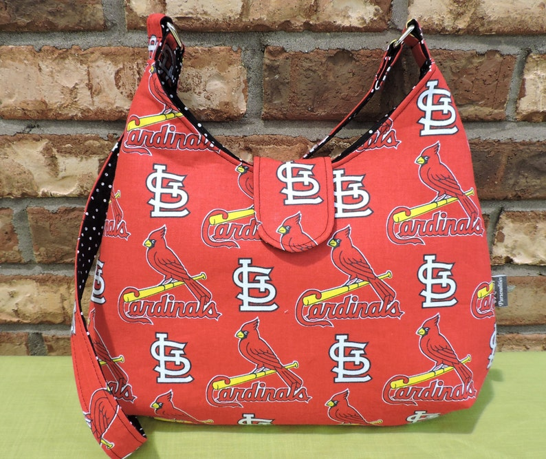 St Louis Baseball Cardinals Hobo Bag Stl Cards Birds Bats Mlb