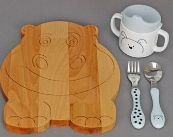 Breakfast Board Hippo