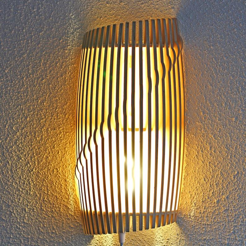 Wooden lamp wall lamp HORTEN image 0