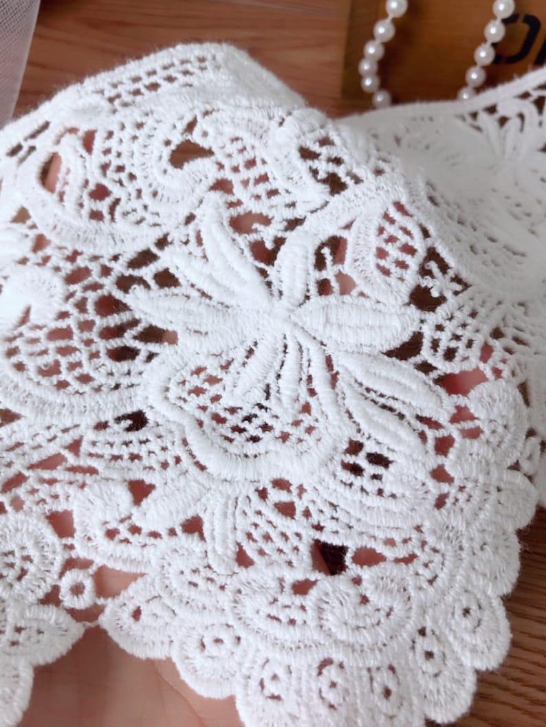 5.5 wide Cotton scalloped lace off white lace trim home decoration lace trim skirt trim lace