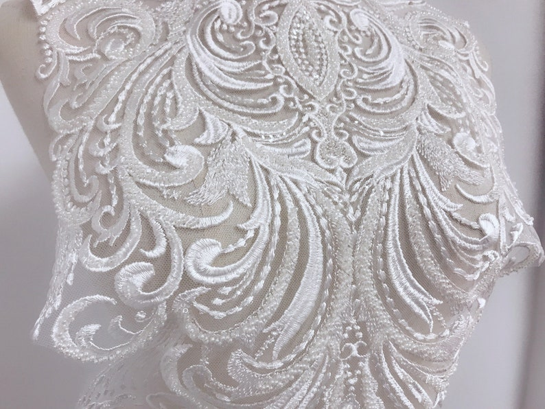 Pieces off white bridal wedding d floral lace applique floral