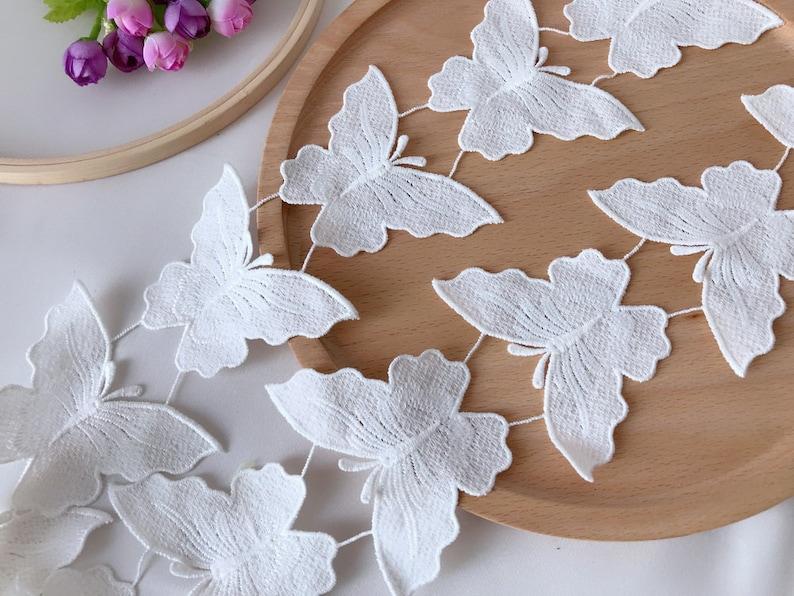 Bianca farfalla pizzo applique trim per abito da sposa etsy